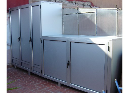 Armarios de exterior en aluminio estancos endiagonal mar - Armario lavadora exterior ...
