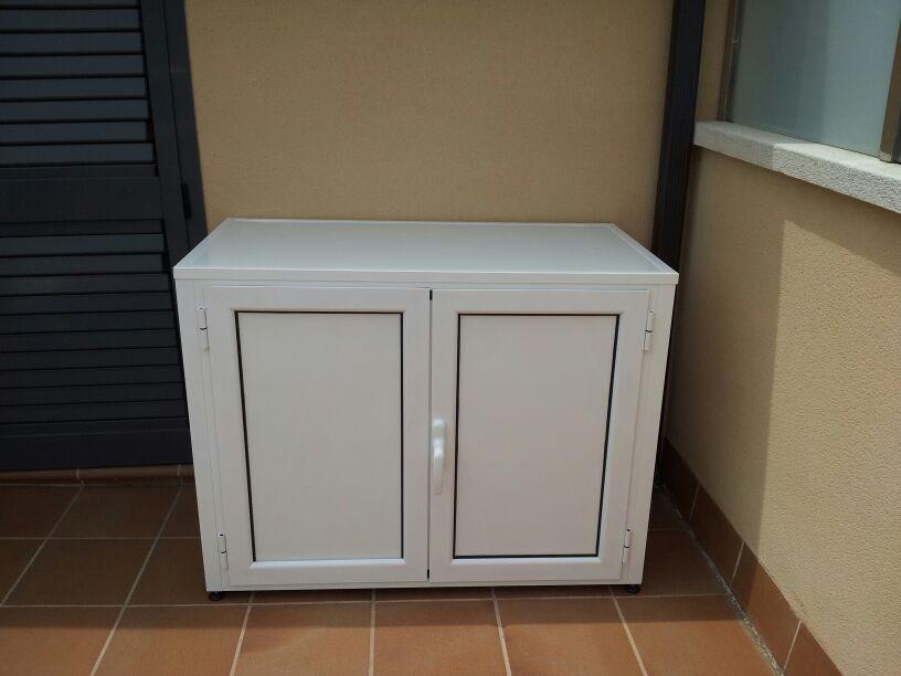 Armarios de exterior en aluminio estancos endiagonal mar for Mueble lavadora exterior