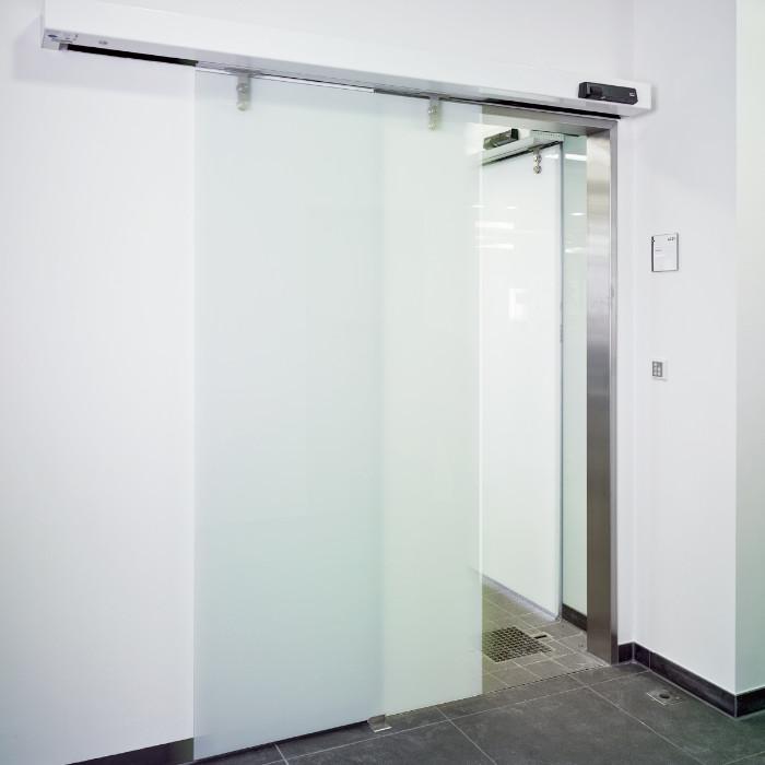 Puertas correderas manuales de cristal de seguridad - Puertas de vidrios ...