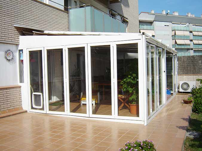 Cerramientos de aluminio para terrazas poble nou barcelona - Puertas para cerramientos ...