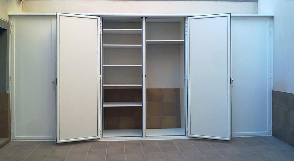 Armarios de exterior en aluminio estancos endiagonal mar for Muebles de exterior aluminio