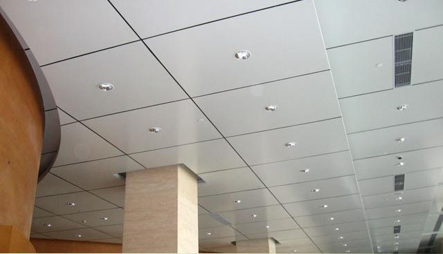 Instalaci n de falsos techos de aluminio diagonal mar for Different kinds of ceiling design